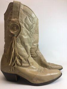 5083a70a496ec0 Laredo Ladies 6 M Tassels Fringe Western Cowboy Tan Distressed ...