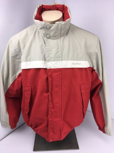 Nautica Jacket Vintage Reversible Bomber Men L La… - image 1