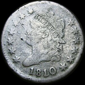 1810/09 Classic Head Large Cent Penny  ----  Nice Details Type Coin   ---- #K463