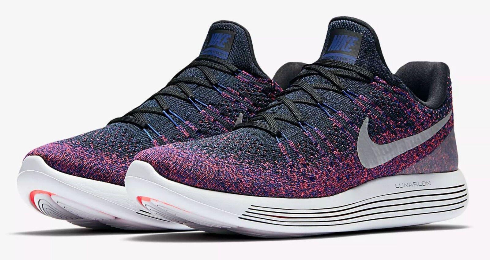 Nike Men's Running Shoes LunarEpic Low Flyknit 2 Black Punch Sz 10.5 863779-015