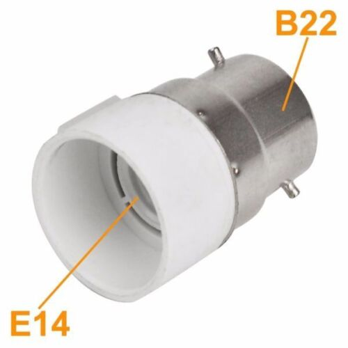 £8.99 ONLY,BARGAIN B22 TO E14 Adapter PACK OF 12,WOW
