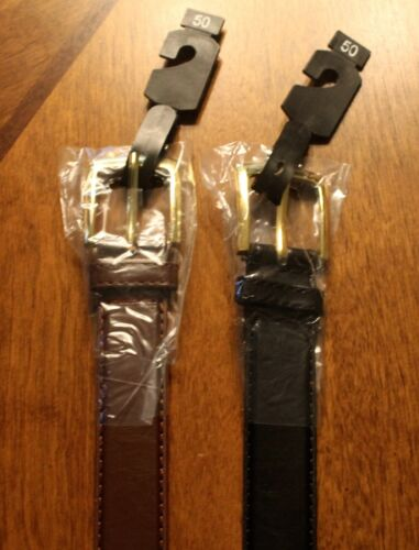 2 New Men/'s Men Belts Black /& Brown Leather Belts Size  46,48,50,52,54 and 56