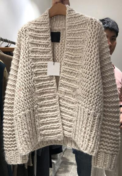 Ladies Stylish Chunky Knitting Loose Plus Size Sweater Knitwear 2019 Hot Sale