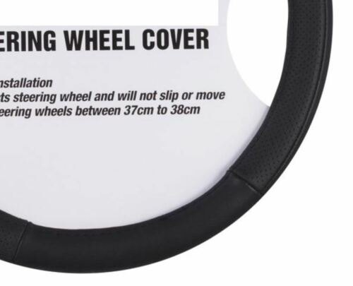 Toyota Tarago Rukus /& 4 Runner Genuine Leather Steering Wheel Cover 37-38cm
