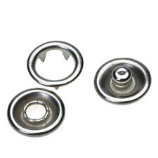 - SIZE 16 7//16 OPEN RING PRONG NO SEW SNAP FASTENERS 100 SETS 400 Pieces Silver