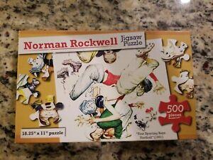 Four-Season-Boys-Norman-Rockwell-1951-500-piece-jigsaw-puzzle-Kappa-Books-NIB