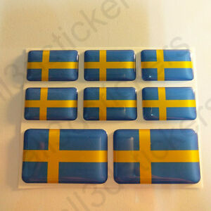 Pegatinas-Suecia-Pegatina-Bandera-Suecia-Vinilo-Adhesivo-3D-Relieve-Resina