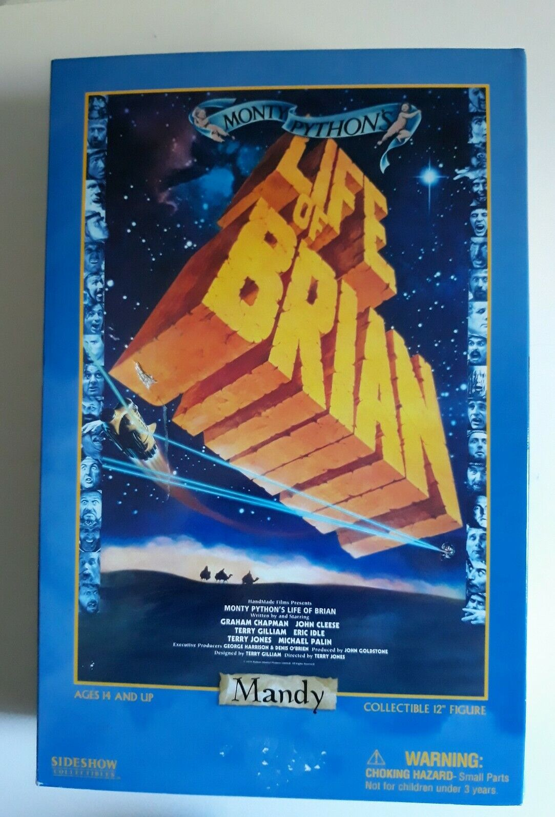 "SIDESHOW MONTY PYTHON LIFE OF BRIAN GRAHAM CHAPMAN NEW SEALED MOVIE FIGURE 12"""