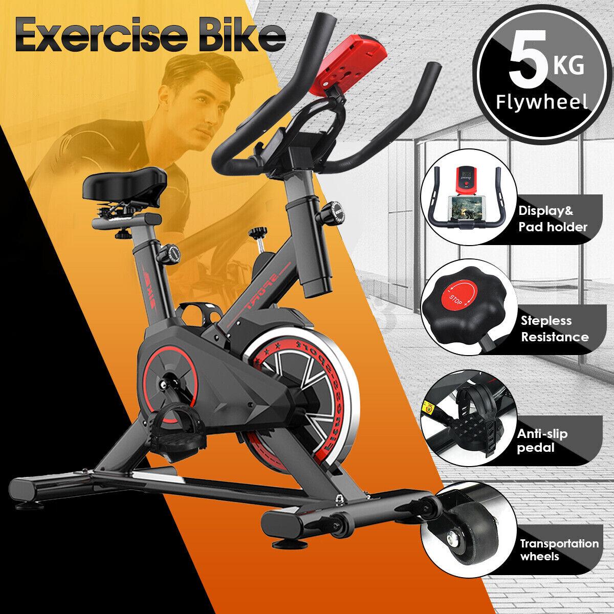 Bicicleta estáticas para Fitness Bici de Gimnasio Calidad Profesional con LCD ES