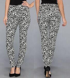 stretch Msrp nero stampa 2l38544 Jeans skinny con 119 Kane Karen leopardata bianco xvfXqT1Iwn