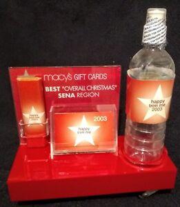 """Macy's De Noël 2003 Boutique Carte Cadeau Ventes Award/afficher """"eat Me"""""""" Buvez-moi""""-afficher Le Titre D'origine Dabnhcaa-08005105-199043906"""