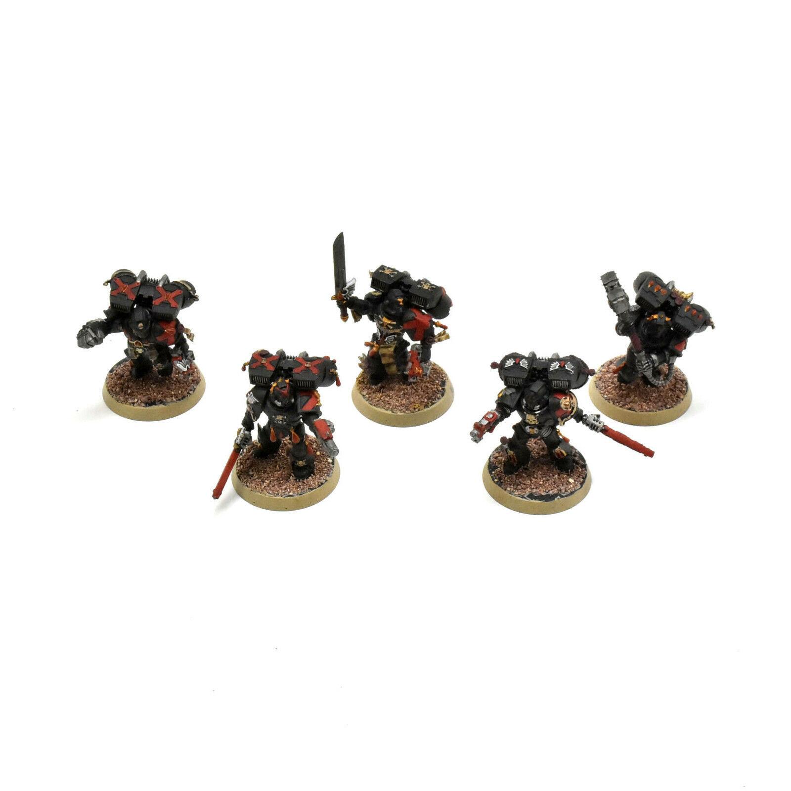 Ángeles de sangre Equipo de compañía de la muerte de 6 con salto Pack  3 pintado warhammer 40K