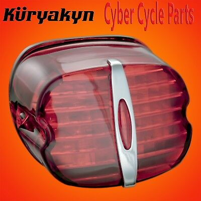 KURYAKYN RED DELUXE PANACEA TAILLIGHT W//LICENSE LIGHT FOR 1994-2013 HARLEY 5420
