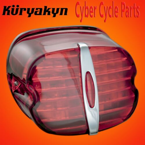 Kuryakyn Red Deluxe LED Taillight Conversion Without License Plate Window 5433