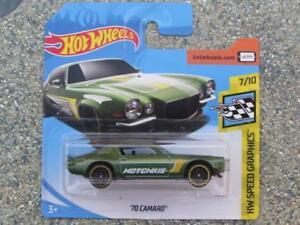 Hot-Wheels-2018-028-365-1970-Camaro-Verde-Hw-Velocidad-Imagenes