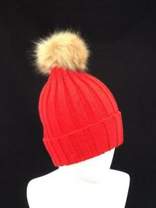 b0dd2a728b342 Image is loading LADIES-RED-WINTER-HAT-SKI-BEANIE-WITH-POM-
