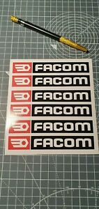 lot 6 stickers autocollant Facom outillage decal bricolage sponsor