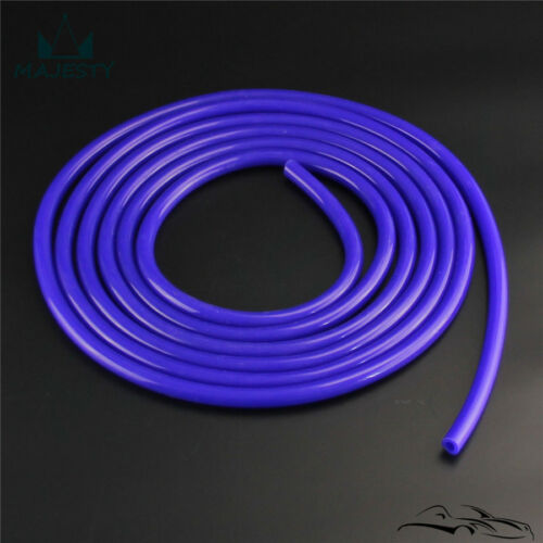 Blue 16Ft Length 14mm ID Silicone Vacuum Tube Hose 5 Meter