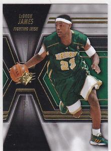LeBRON JAMES High School IRISH BASKETBALL JERSEY CARD #23 Cavs Upper Deck  SPX! | eBay