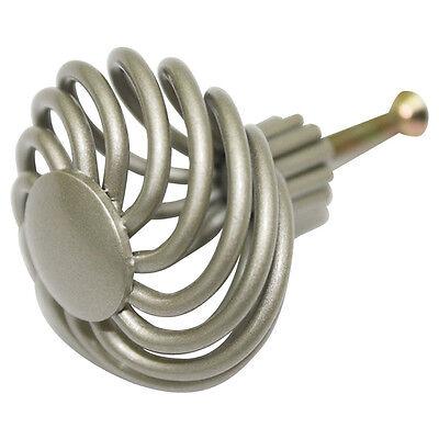 SILVER Metal Twist 41 mm Dresser Drawer Knob Kitchen Door Pulls Handle TW-L41