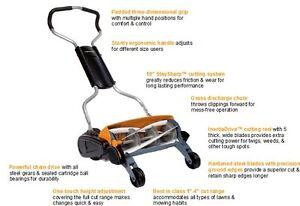fiskars 6201 18 inch staysharp max push reel lawn mower ebay. Black Bedroom Furniture Sets. Home Design Ideas