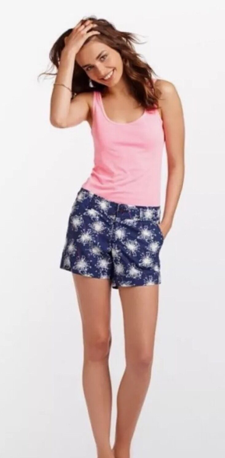 Lilly Pulitzer Sparkle Glow Firework Callahan Shorts Size 4 Glow  In The Dark