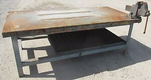 Awesome Details About Steel Work Bench Welding Table Vise 4 X 8 X 34 2457Wvs Andrewgaddart Wooden Chair Designs For Living Room Andrewgaddartcom