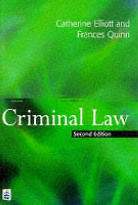 Criminal Law, Quinn, Frances, Elliott, Catherine, Very Good Book