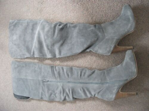 Length Heel High Thigh Ladies Grey 6 Next Suede Size Boots fqIPw8xvP