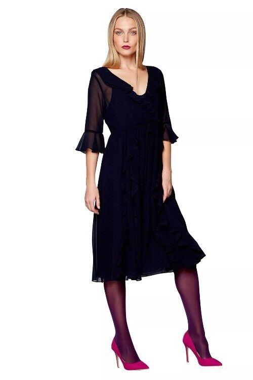 Debenhams Studio By Preen Navy Midi Dress - Size 12 - BNWT