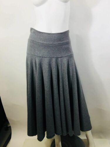Norma Kamali Women's Size M Gray Midi Skirt