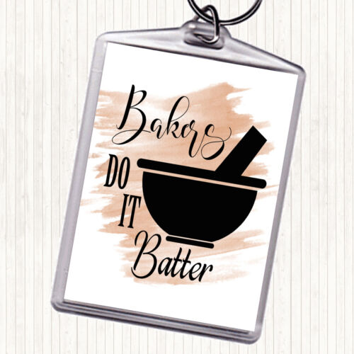 Aquarelle Bakers Do It Batteur Citation Sac Tag Keychain Keyring