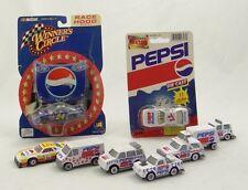 LOT OF 9 PEPSI COLA DIE-CAST CARS~NASCAR (Gordon, Peck) +DELIVERY VEHICLES~Ja-Ru