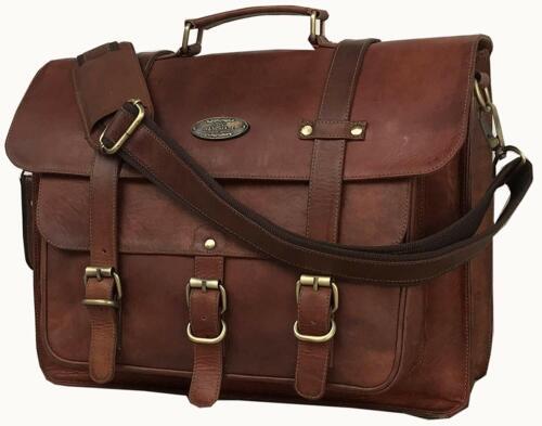 Vintage Épaule Bag En Rugge Messenger Cuir Véritable Grand Cartable Cartable 3jLA54qR