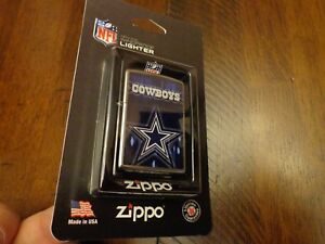 DALLAS COWBOYS STAR FOOTBALL NFL ZIPPO LIGHTER MINT IN BLISTER PACKAGE RETIRED