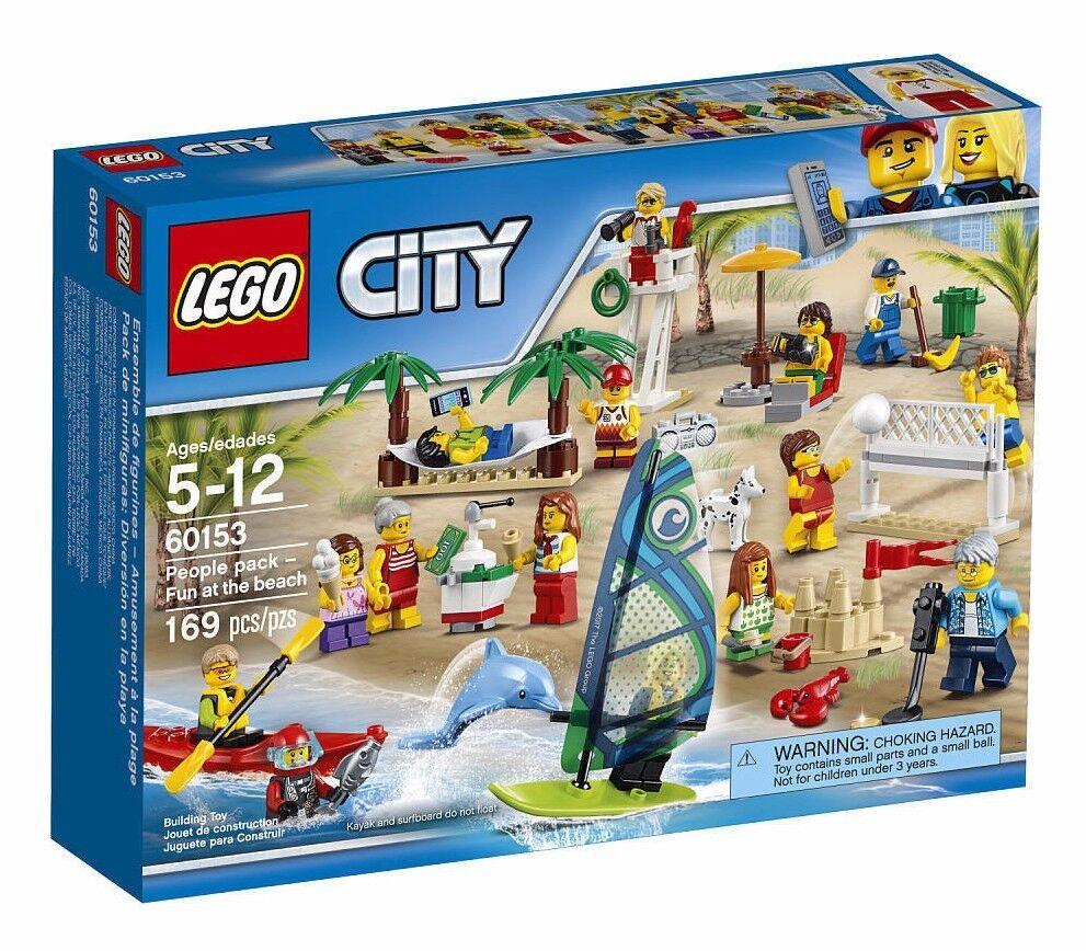 Lego Città Divertente in Spiaggia Personaggi Confezione Set 60153 Nuovo
