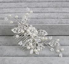 Wedding Hair Comb Silver Crystal Bridal Accessories Rhinestone Headpiece 1 Piece