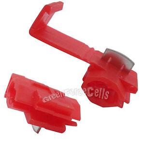 30 x Electrical Terminals Crimp Quick Splice Lock Wire Connector 22-18 Gauge Red