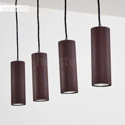 Suspension Pendulaire Lampes rostfarben ESS résidentiels Chambre Espace éclairage 4-Brûleur