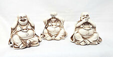 Buddha Ornament/Figurine - Speak, See, Hear No Evil - Set of 3 Cream Buddhas