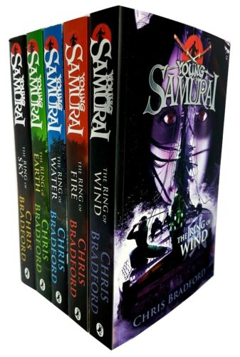 Chris Bradford Collection Young Samurai Series (4-8) Ring of Earth 5 Books Set
