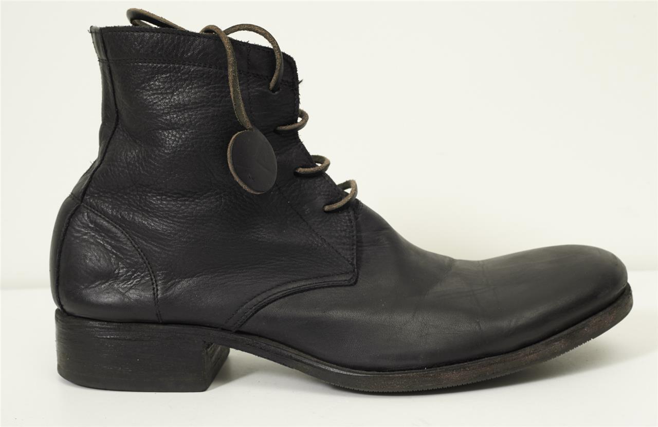Carpe Diem S52M Para Hombre Casual De Cuero Negro Puntera rojoonda Con Cordones Botín 11-44