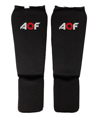 AQF Shin Instep Pad Kick Boxing Protected Foot Guard UFC MMA Muay Thai