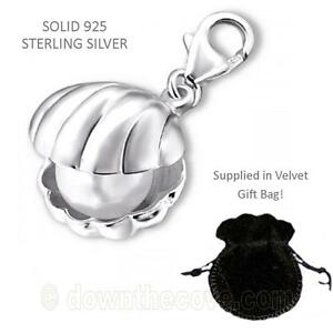 Solid 925 Sterling Silver Charm in Gift Bag Turtle Charm Lobster Clasp
