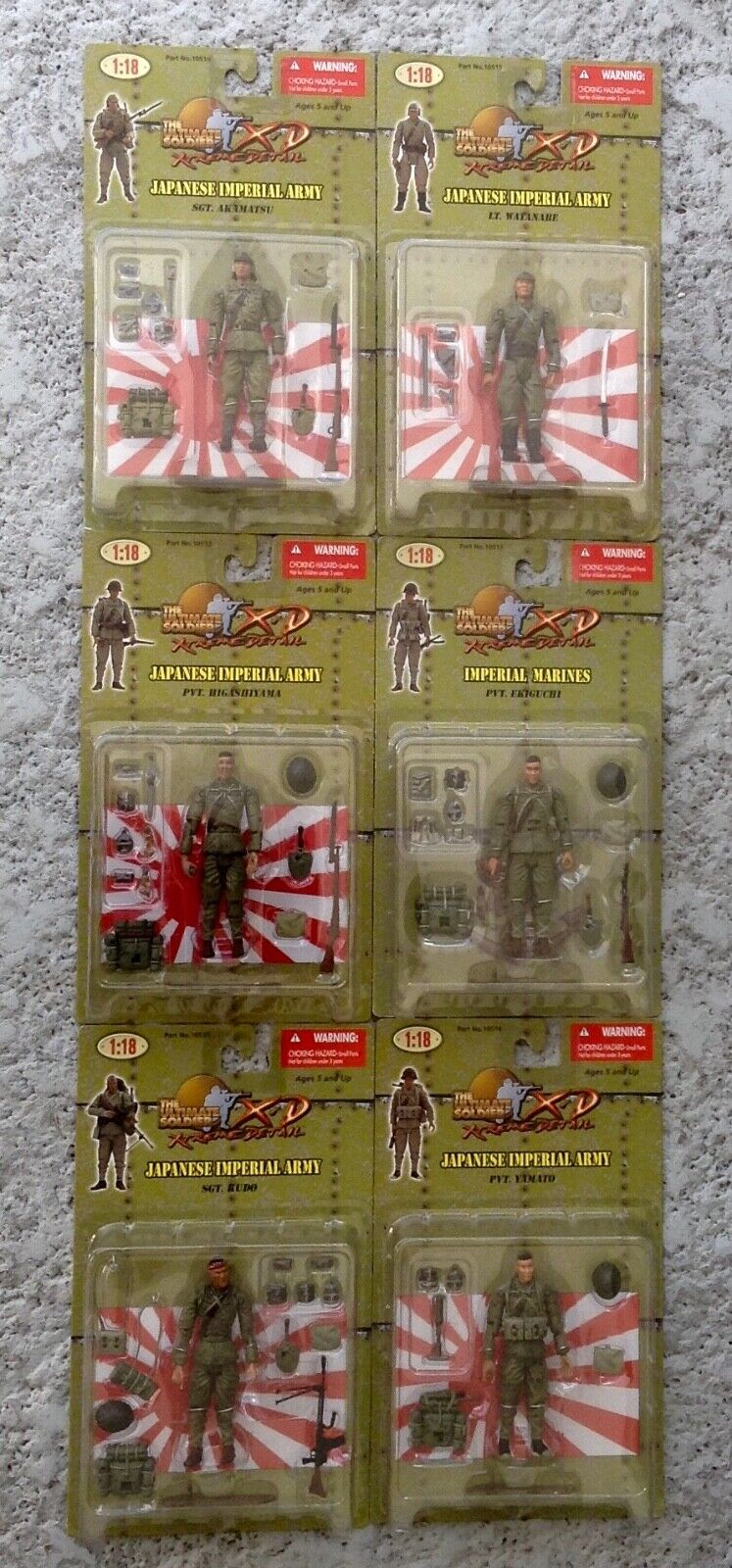 ULTIMATE SOLDIER 118 XTREME DETAIL SET OF 6 JAPANESE IMPERIAL ARMY MOC