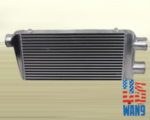 2 in 1 Twin Turbo Aluminum Intercooler for Mustang Viper Skyline GT-R SBC BBC