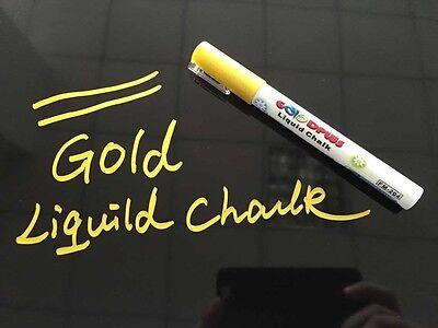 Präsentations-zubehör Präsentationsbedarf Neu Kreidemarker Buntstift Flüssigkreide Kreidestift Gold Tafel Werbung Top 3mm Schrumpffrei