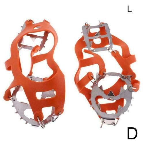 1 Pair Crampons Non-Slip Ice Hiking Climbing Shoes Gripper Cleats Spike E4N8