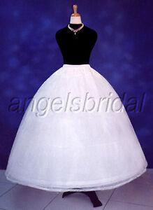 c9050c7ff19e0 Details about 3 HOOP BRIDAL WEDDING GOWN DRESS COSTUME PROM PETTICOAT  CRINOLINE SKIRT SLIP NEW