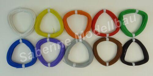 Kabeldraht 0,03mm² Extrem Dünn 0,65mm Decoderkabel SMD LED Kabel 10 Farben